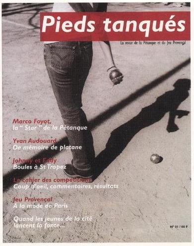 pieds tanques magazine cover - apprendre le jeu de  pétanque - ses regles et le choix des boules
