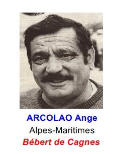 Entre 1950 et 1960, naissent les premières « stars » de la pétanque. Cette dernière prend son essor sous l'impulsion d'Alphonse Baldi, dit « Le Bombardier Toulonnais », de François Bezza dit « Besse » et du fameux Ange Arcolao, dit « Bebert de Cagnes ». Ce dernier est d'ailleurs le premier à avoir  une carrière de plusieurs décennies.