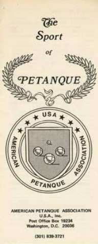 A Brief History Of Petanque In The USA All About Petanque - Area code 301 in usa