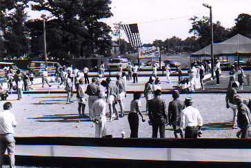 The opening of the Portsmouth Petanque Club, mid-1980s